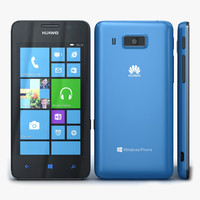 3d model of huawei ascend w2 blue