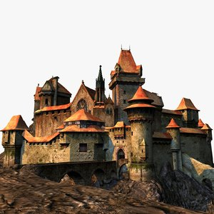 3d model medieval fortress