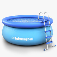 3d model realistic swimming pool