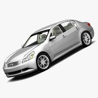 infiniti g37 sedan 2009 3d model