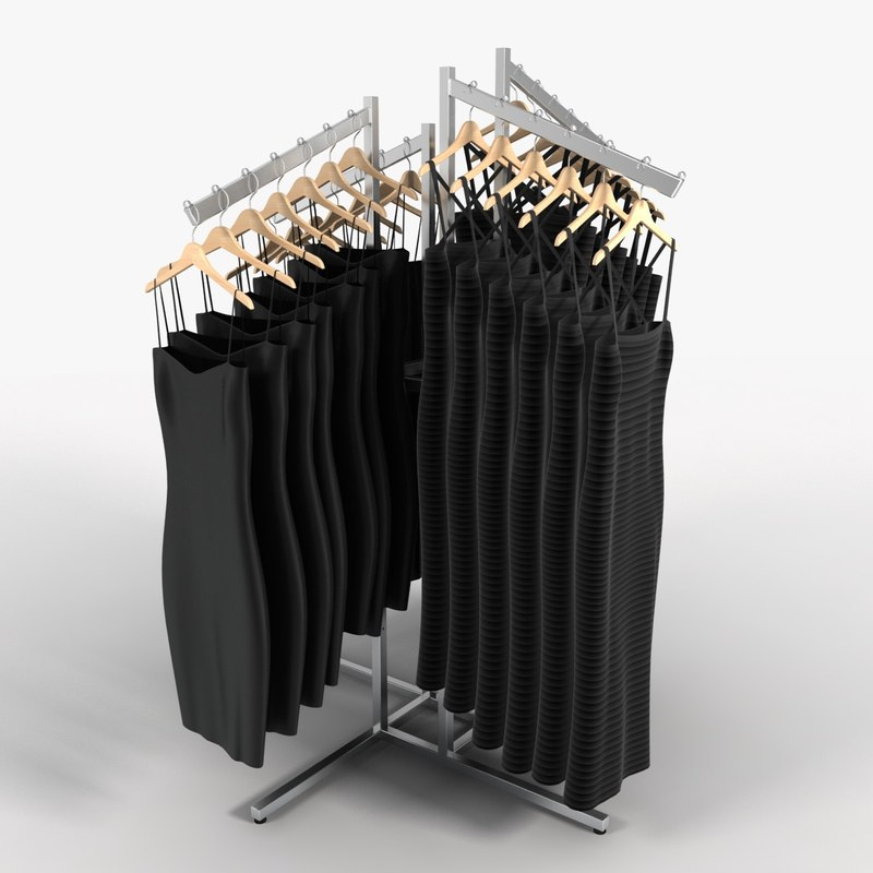 women s dress rack 3d model