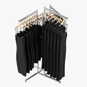 women s dress rack 3d model