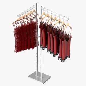 3ds max lingerie rack 1