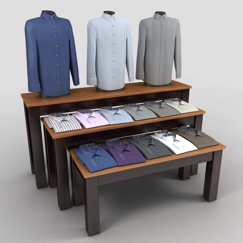 dress shirt table 2 3ds