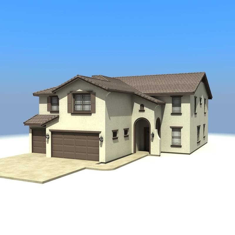 A 3d house model