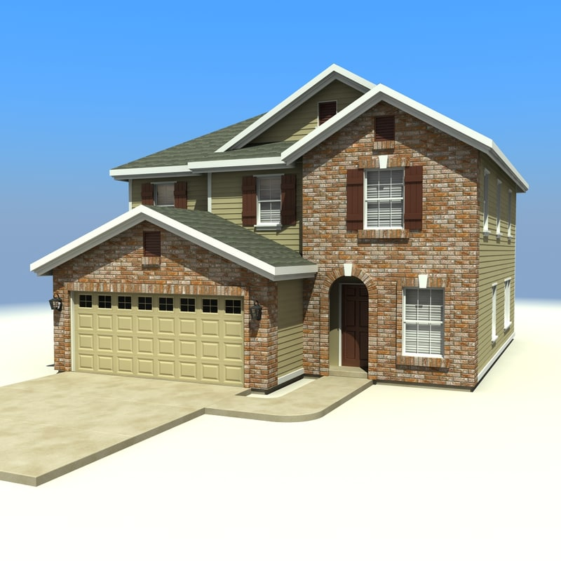 House homes 3d model Home 3d model