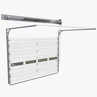 3d Model Garage Door Assembly