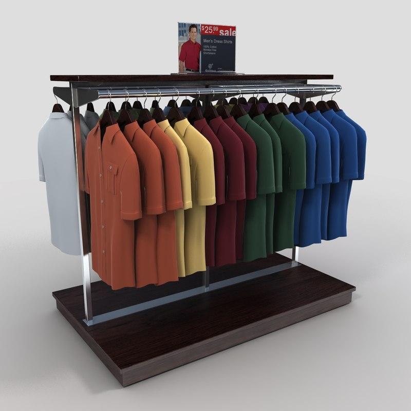 short sleeved shirt rack 3ds