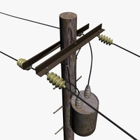 3d electricity pole model