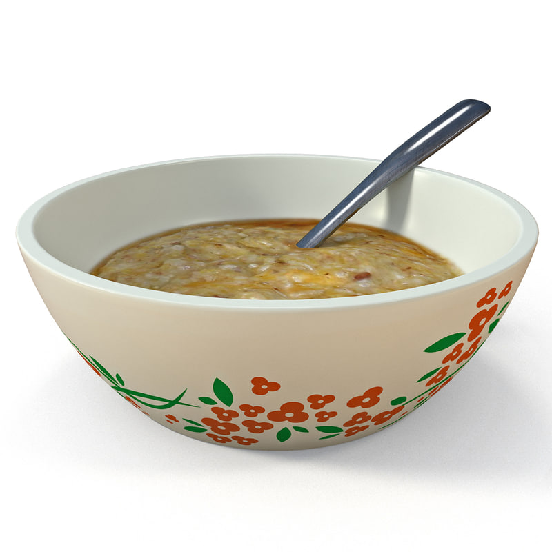 bowl oatmeal 3ds