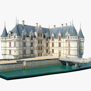 castle azay le rideau 3d model