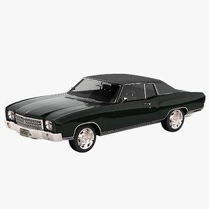 chevrolet monte carlo 1970 3ds