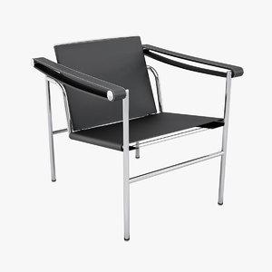 design le corbusier sling chair 3d max