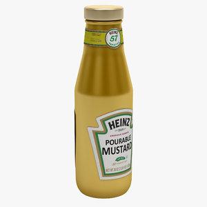3dsmax mustard bottle heinz