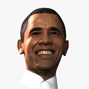 3ds max president obama smiling