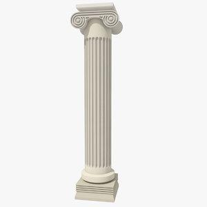 antiquity pillar 3d model