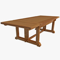max solid oak dining table