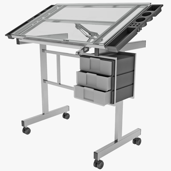 vision station glass drafting table 3ds