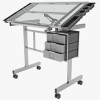 Vision Station Glass Drafting Table