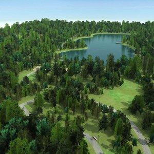 park pond trees max