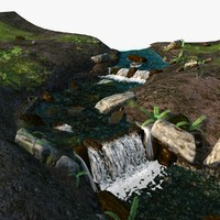 stream water animation 3d max