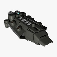 space freighter spaceship 3d model