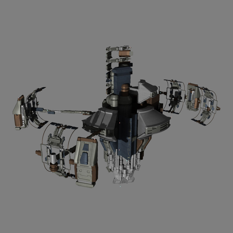 sci-fi space station 3d max