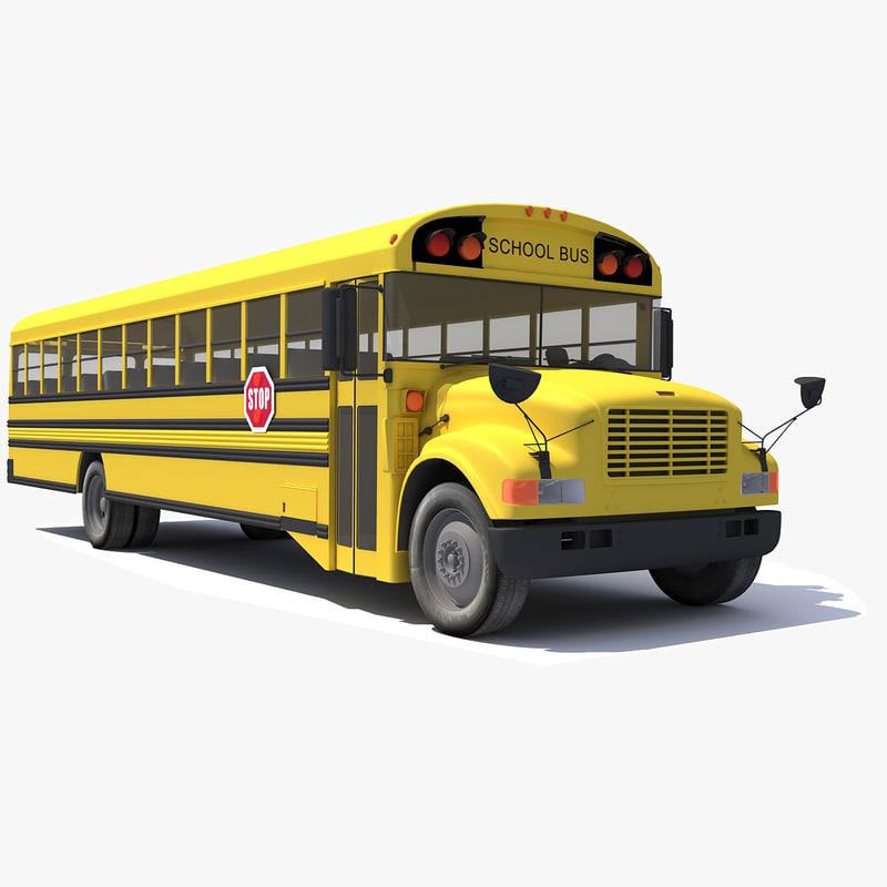school bus 3d 3ds