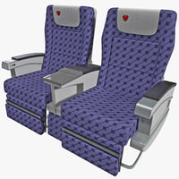 aircraft passenger seats 4 3ds