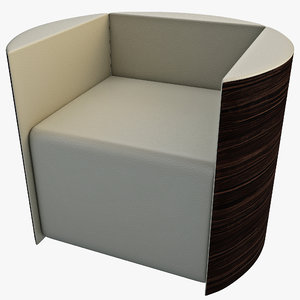 3d cylinder chair model