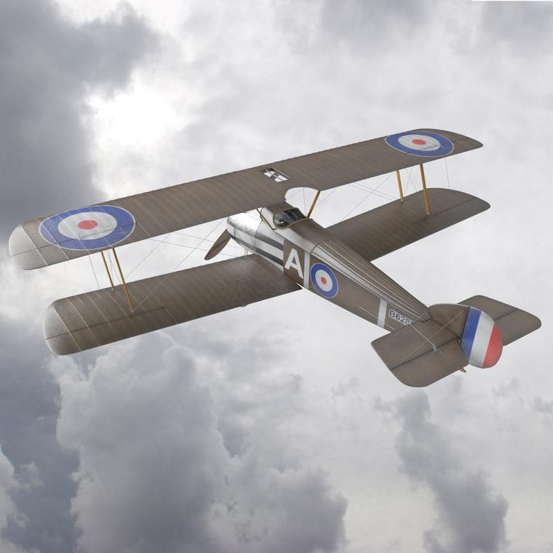 sopwith camel fighter 3d model