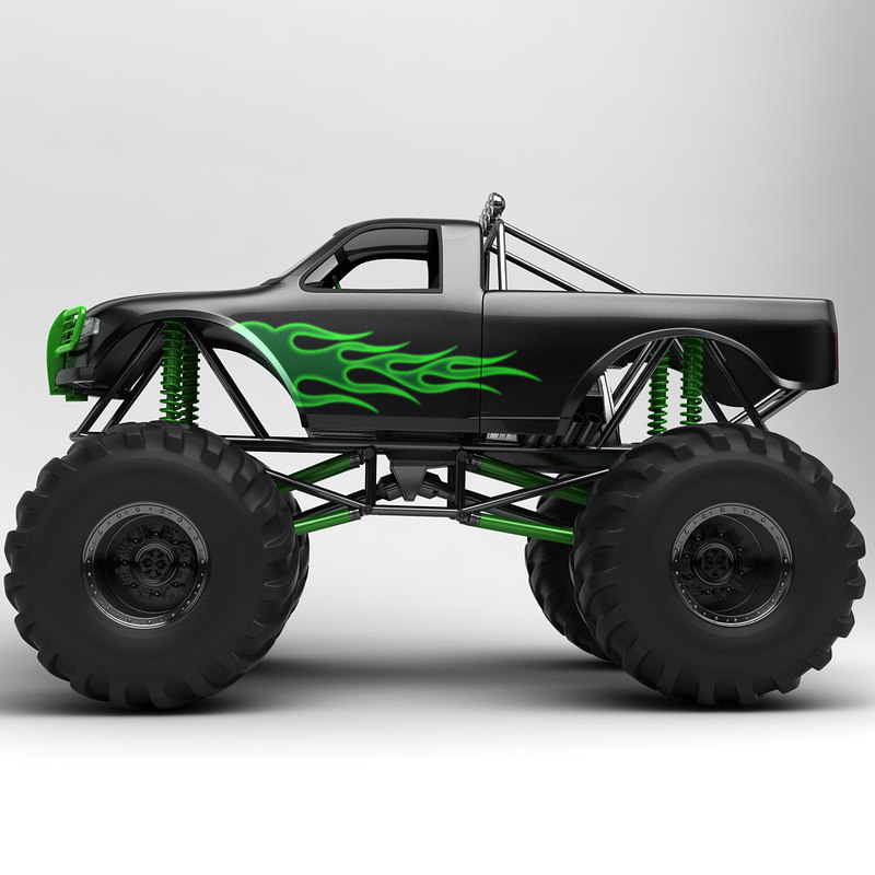 Monster truck 3d model for Monster 3d model