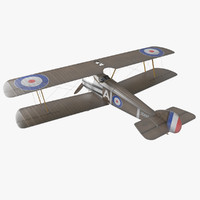 sopwith camel fighter 3d model