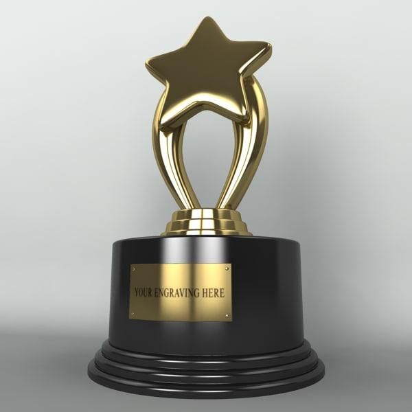 3d model trophy star