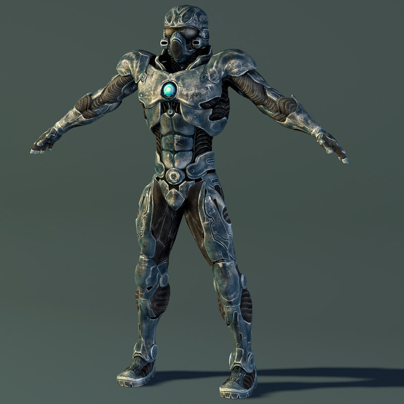 3d military robot model