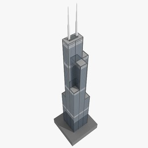 3ds max sears tower