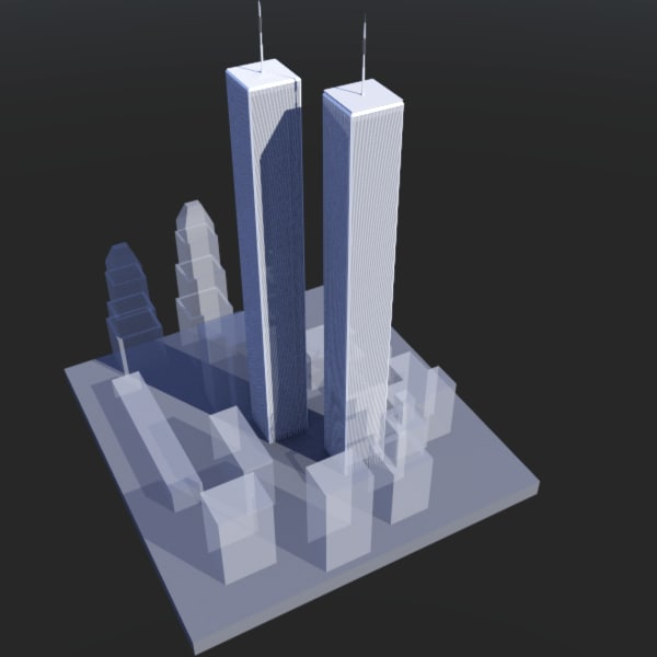 world trade 3d model