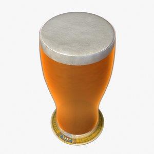 3dsmax beer pint glass