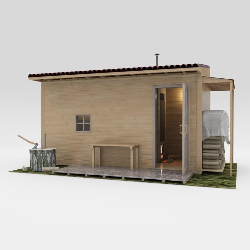 3d suburban small bath model