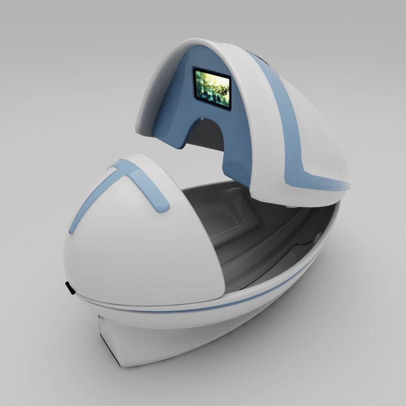 spa capsule 3d model