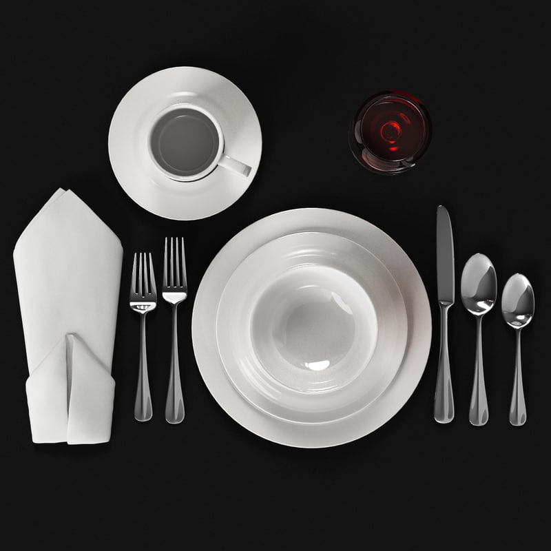 flatware silverware dining 3ds