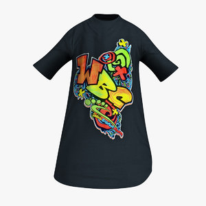 cartoons t-shirt obj
