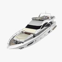 azimut 95 flybridge yacht 3d max