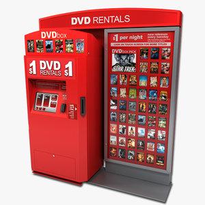 3d model dvd vending machine