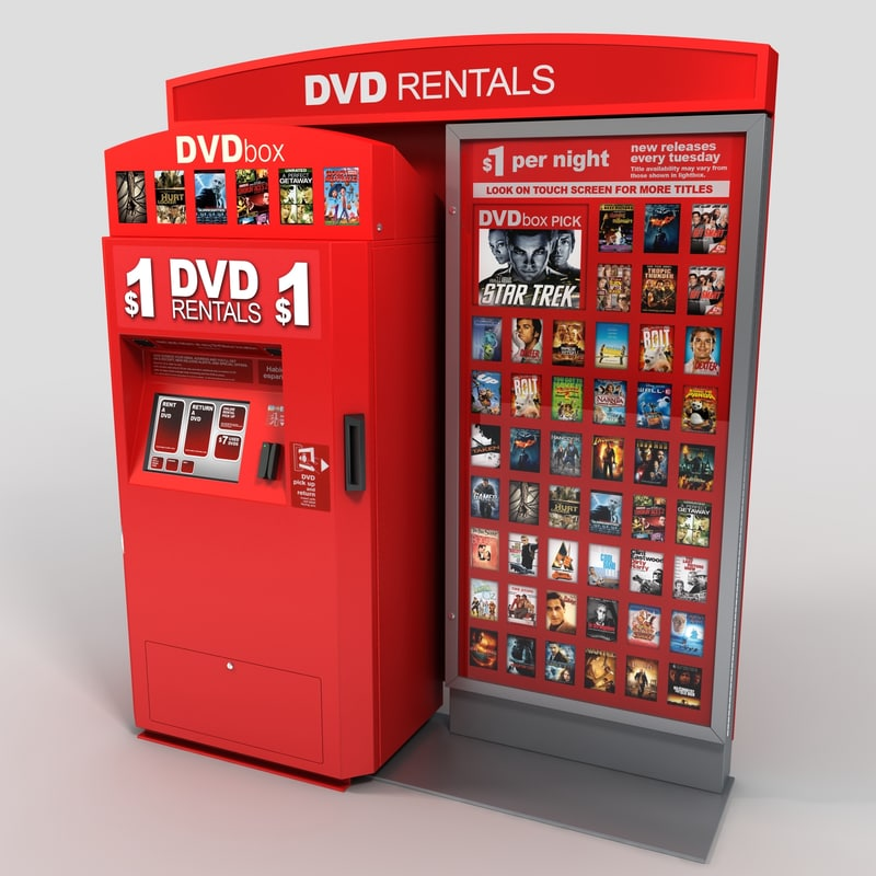 3d model dvd vending machine