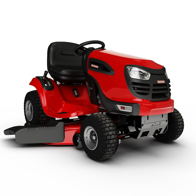 3d motorized lawnmower