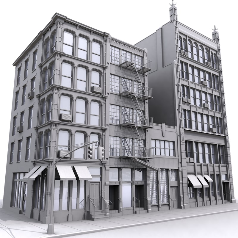 3d model city block for Model houses in new york
