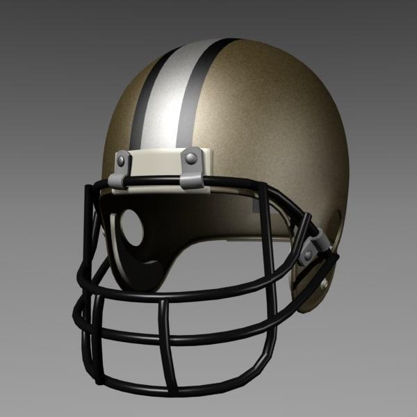 3d football helmet model