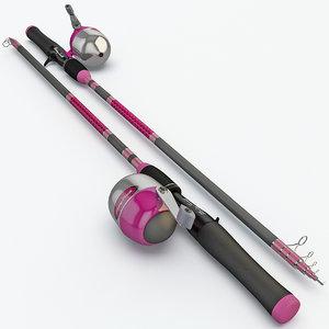 fishing rod 3d model