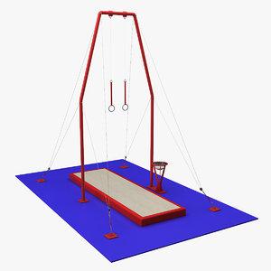 gymnastics rings 3d model